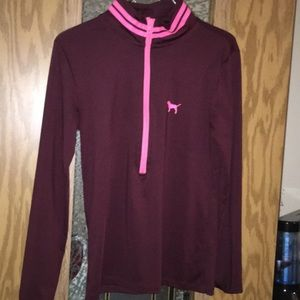 PINK ULTIMATE  3/4 zip up pull over